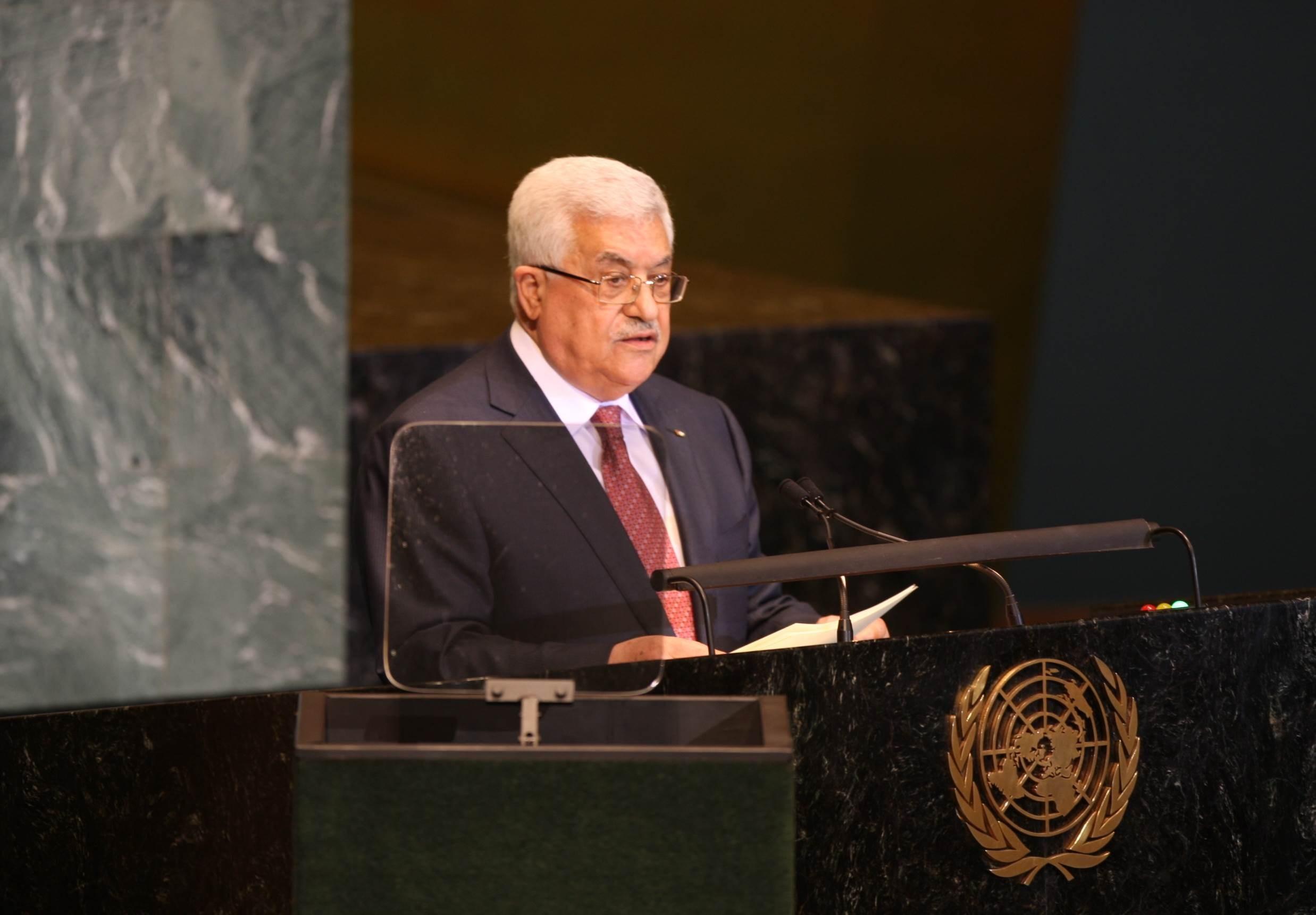 الرئيس الفلسطيني محمود عباس في خطاب أمام الجمعية العامة للأمم المتحدة (أرشيف)