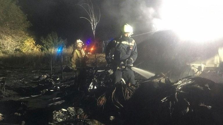 تحطم طائرة النقل التابعة لسلاح الجو الأوكراني خلال رحلة تدريبية