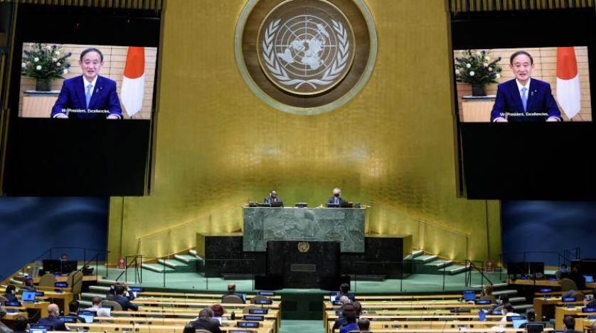 سوغا أمام الجمعية العامة للأمم المتحدة: صفتي رئيس وزراء اليابان الجديد لن أفوت أي فرصة لاتخاذ إجراءات بكل تفان