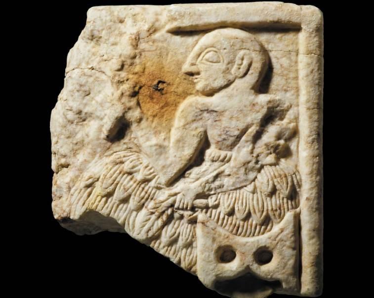 جاءت اللوحة من معبد تعرض للنهب عدة مرات كان آخرها خلال حرب العراق عام 2003.