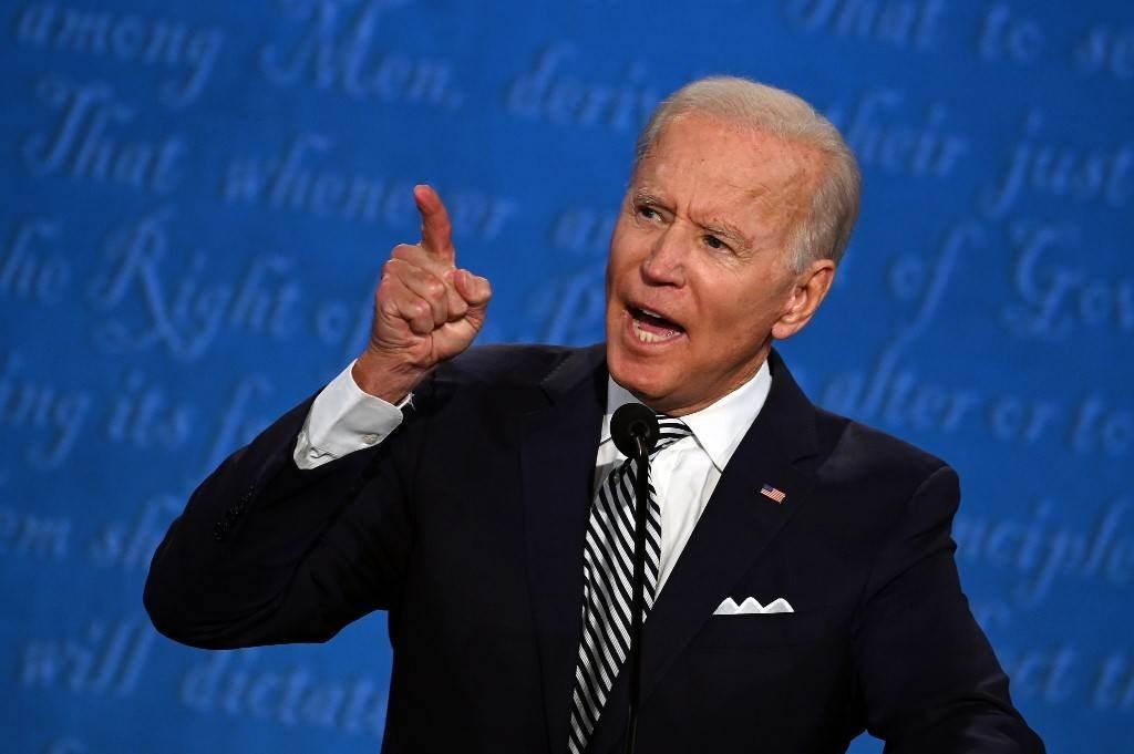 بادين خلال المناظرة الرئاسيّة الأولى مع ترامب - 29 سبتمبر 2020 (أ.ف.ب)