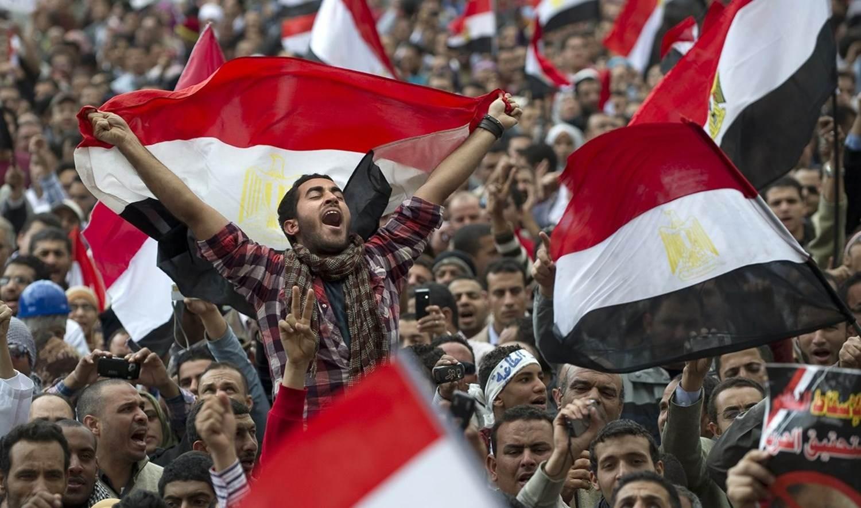 صورة من ثورة 25 يناير/كانون الثاني عام 2011 في مصر