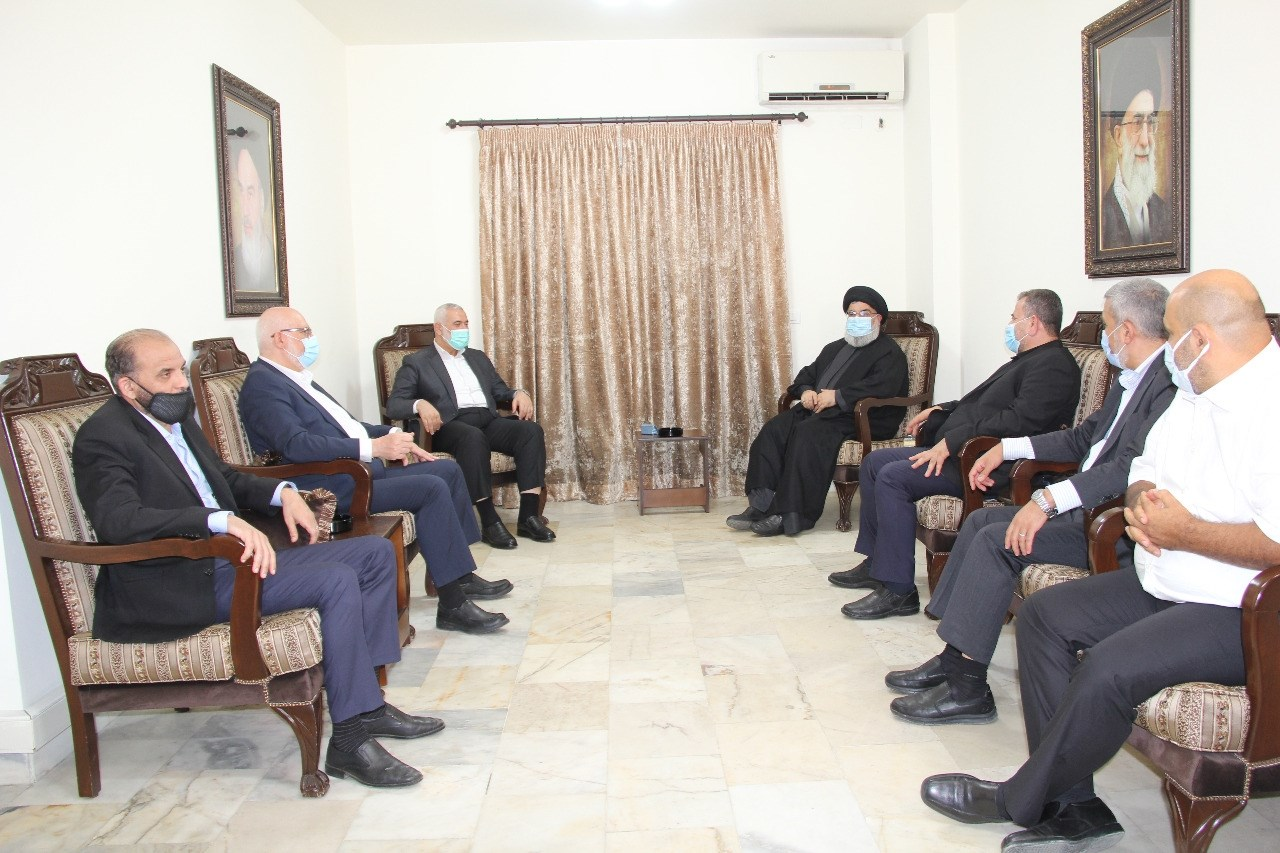 خلال الاجتماع تمّ التأكيد على متانة العلاقة بين حزب الله وحركة حماس