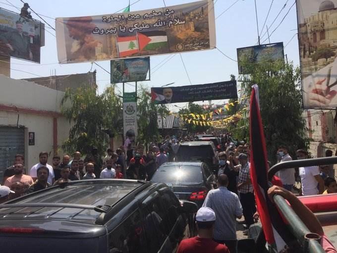استقبال رئيس المكتب السياسي لحركة حماس إسماعيل هنية  في مخيم عين الحلوة