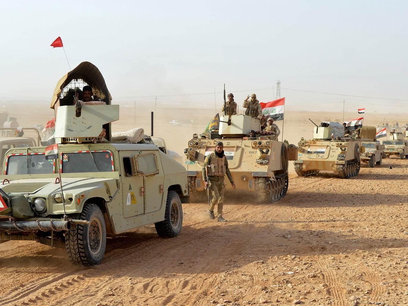 انطلاق العمليات الأمنية العراقية ضد فلول تنظيم داعش في محافظتي ديالى وكركوك