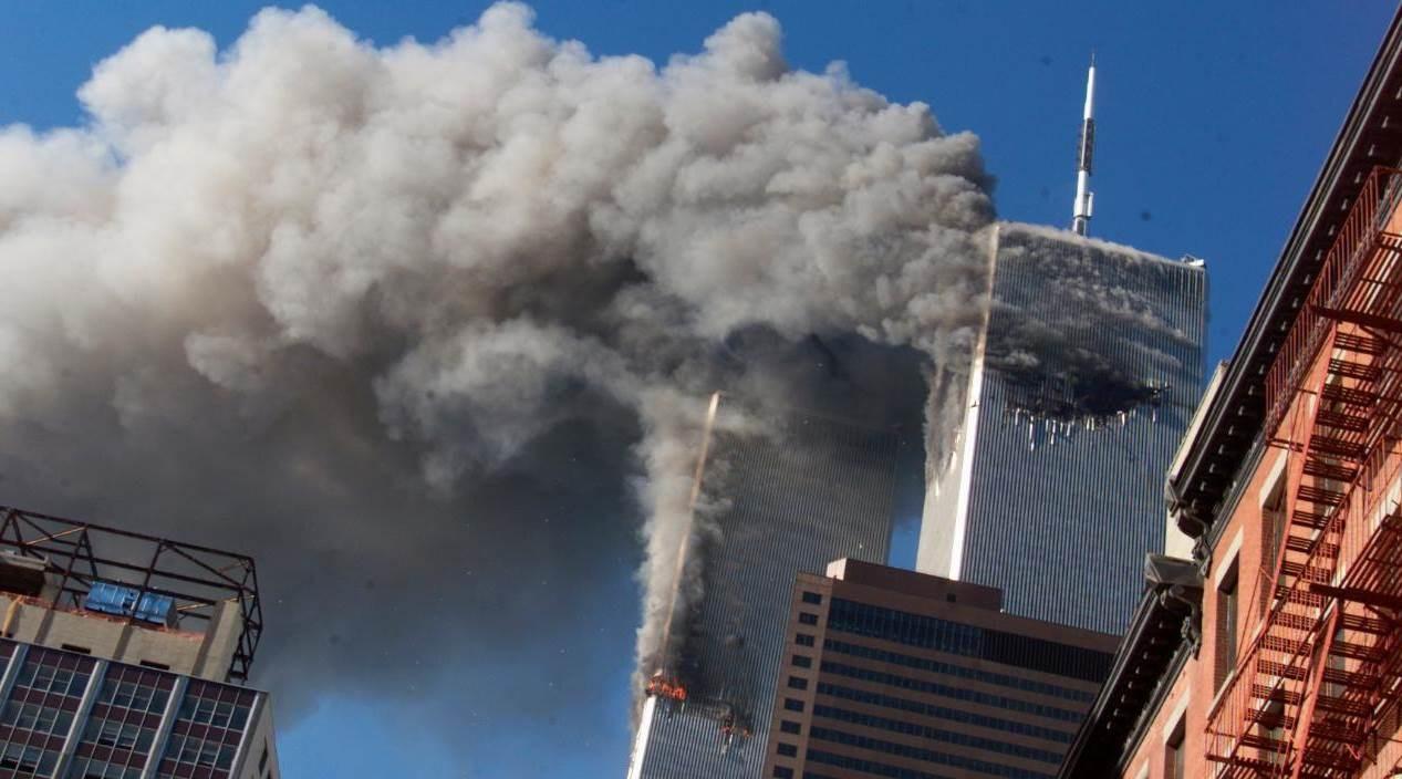 صورة من هجوم 11 أيلول/ سبتمبر 2001 الذي وقع في الولايات المتحدة
