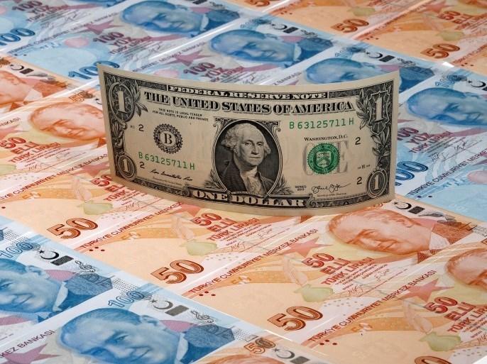 اليرة التركية في تراجع مستمر مقابل الدولار الأميركي