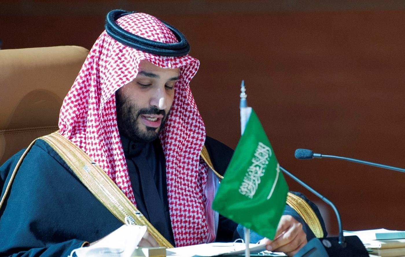 محمد بن سلمان خلال افتتاحه القمة الخليجية في مدينة العلا السعودية في 5 كانون الثاني / يناير الجاري.