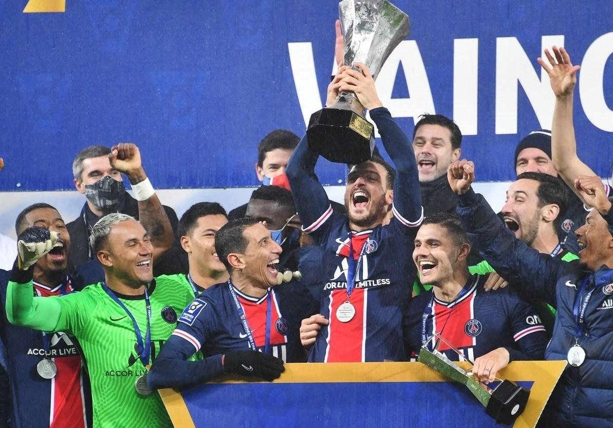 توِّج سان جيرمان بلقب كأس السوبر الفرنسي