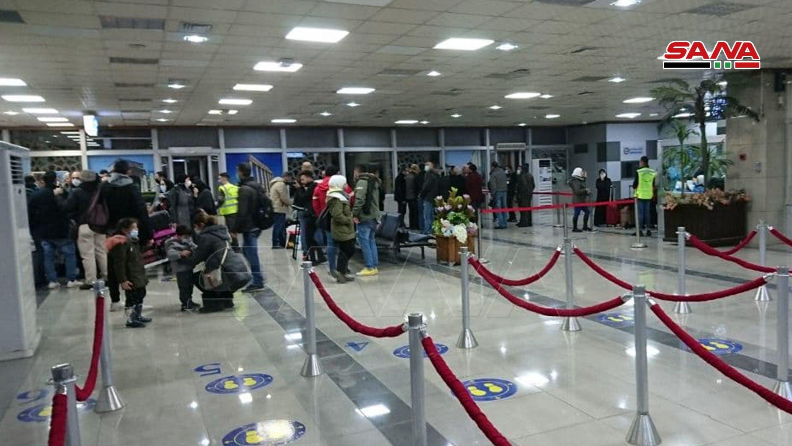 وصول أول رحلة إلى مطار حلب الدولي من بيروت بعد اسئناف العمل فيه