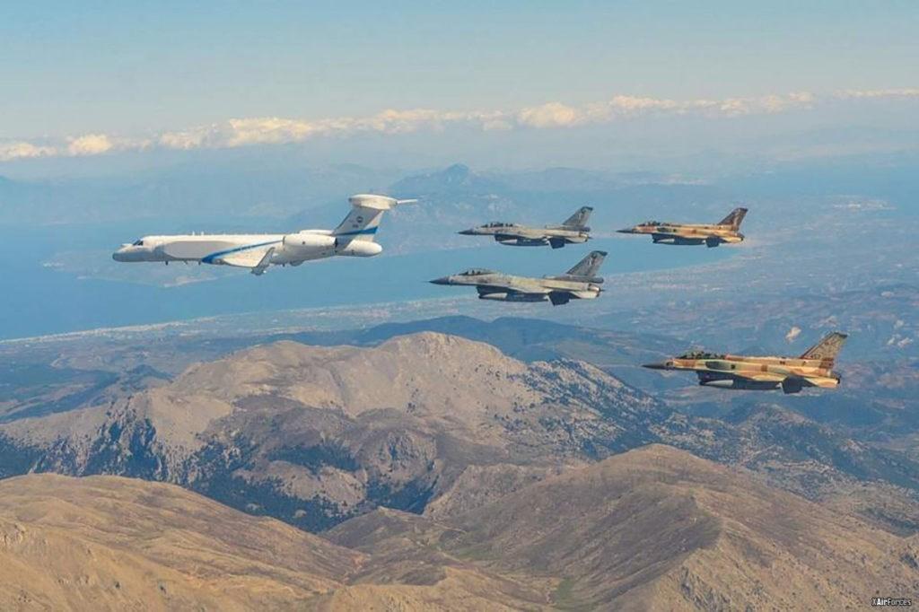 مناورة مشتركة بين سلاحيّ الجوّ الإسرائيلي واليوناني في يونيو 2018
