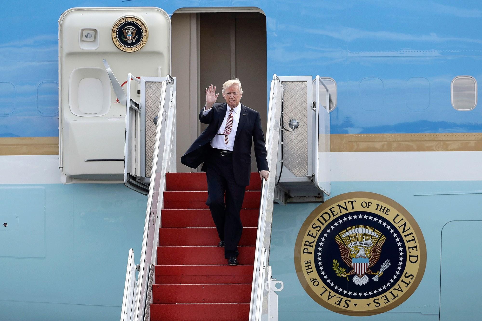 ترامب سيغادر واشنطن فجر الأربعاء القادم قبل ساعات من تنصيب خلفه بايدن