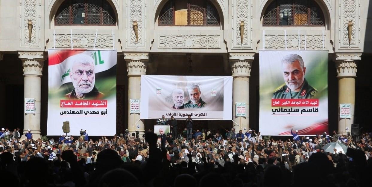 صنعاء تحيي الذكرى الأولى لاستشهاد سليماني والمهندس