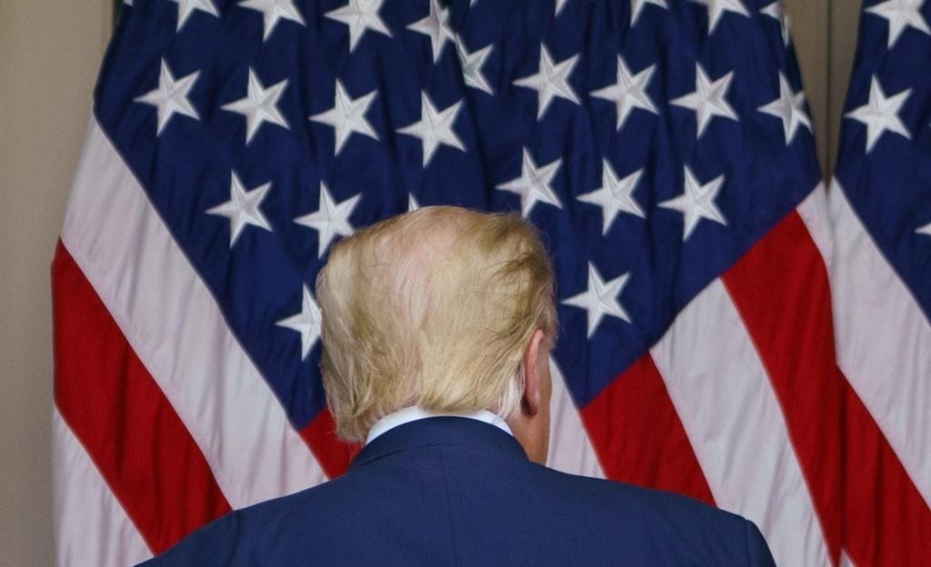 ترامب في حديقة الورود في البيت الأبيض - 28 سبتمبر 2020 (أ.ف.ب)