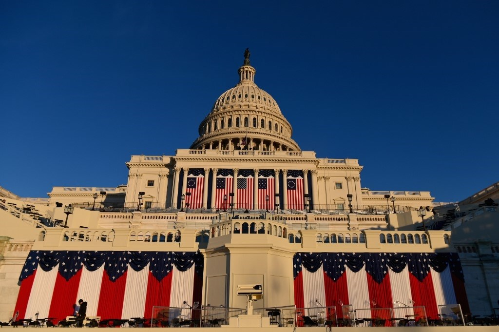 مبنى الكابيتول الأميركي قبل حفل الافتتاح التاسع والخمسين لتنصيب بايدن في واشنطن العاصمة -  19 يناير 2021 (أ.ف.ب)