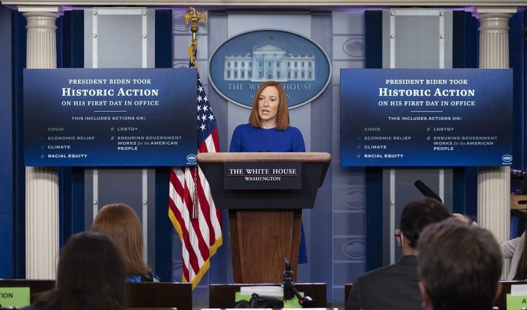 المتحدثة باسم البيت الأبيض جين ساكي (أ ف ب)