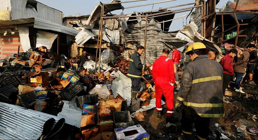 التفجير الانتحاري المزدوج وسط العاصمة العراقية بغداد (أ ف ب)