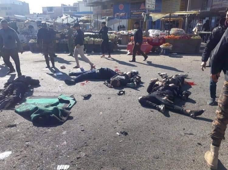 بغداد: شهداء وجرحى بانفجارين متتاليين بالقرب من ساحة الطيران والباب الشرقي