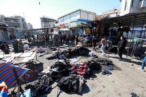 تفجيران متتاليان في سوق شعبية في بغداد تسببا بعشرات الشهداء والجرحى