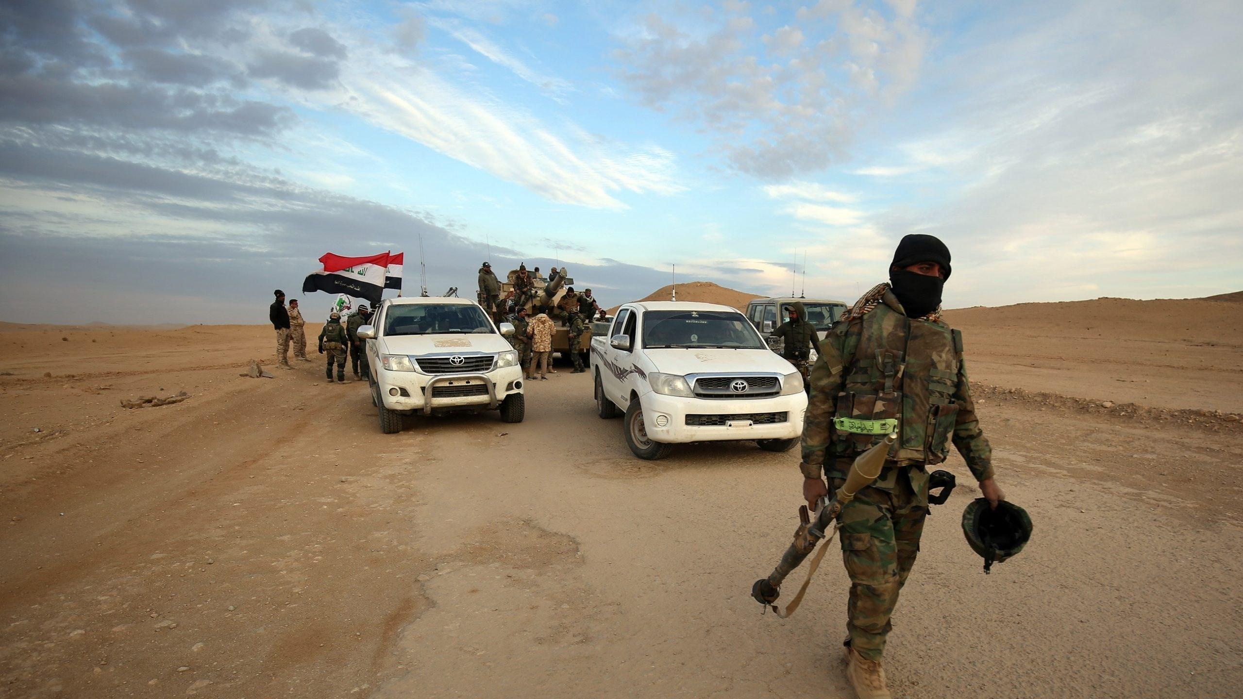 العمليات المشتركة تنعى آمر الفوج الثالث باللواء 22 بالحشد الشعبي ورفاقه بعد عمليات ضد داعش