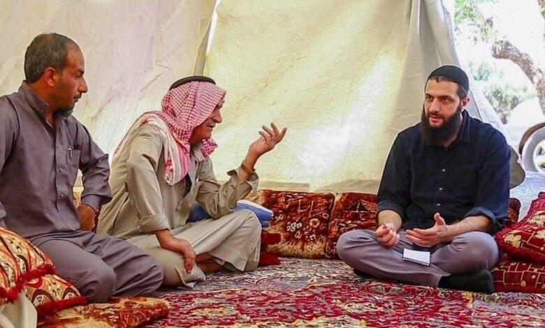 ظهور جديد للجولاني..من أحد مخيمات النازحين في إدلب