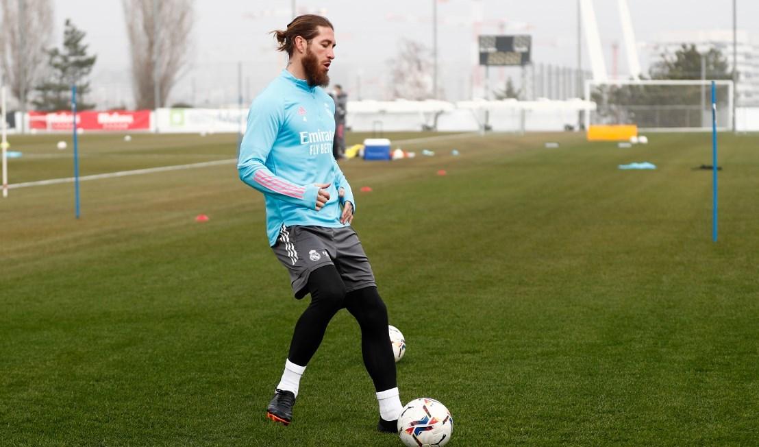 راموس في تدريبات ريال مدريد