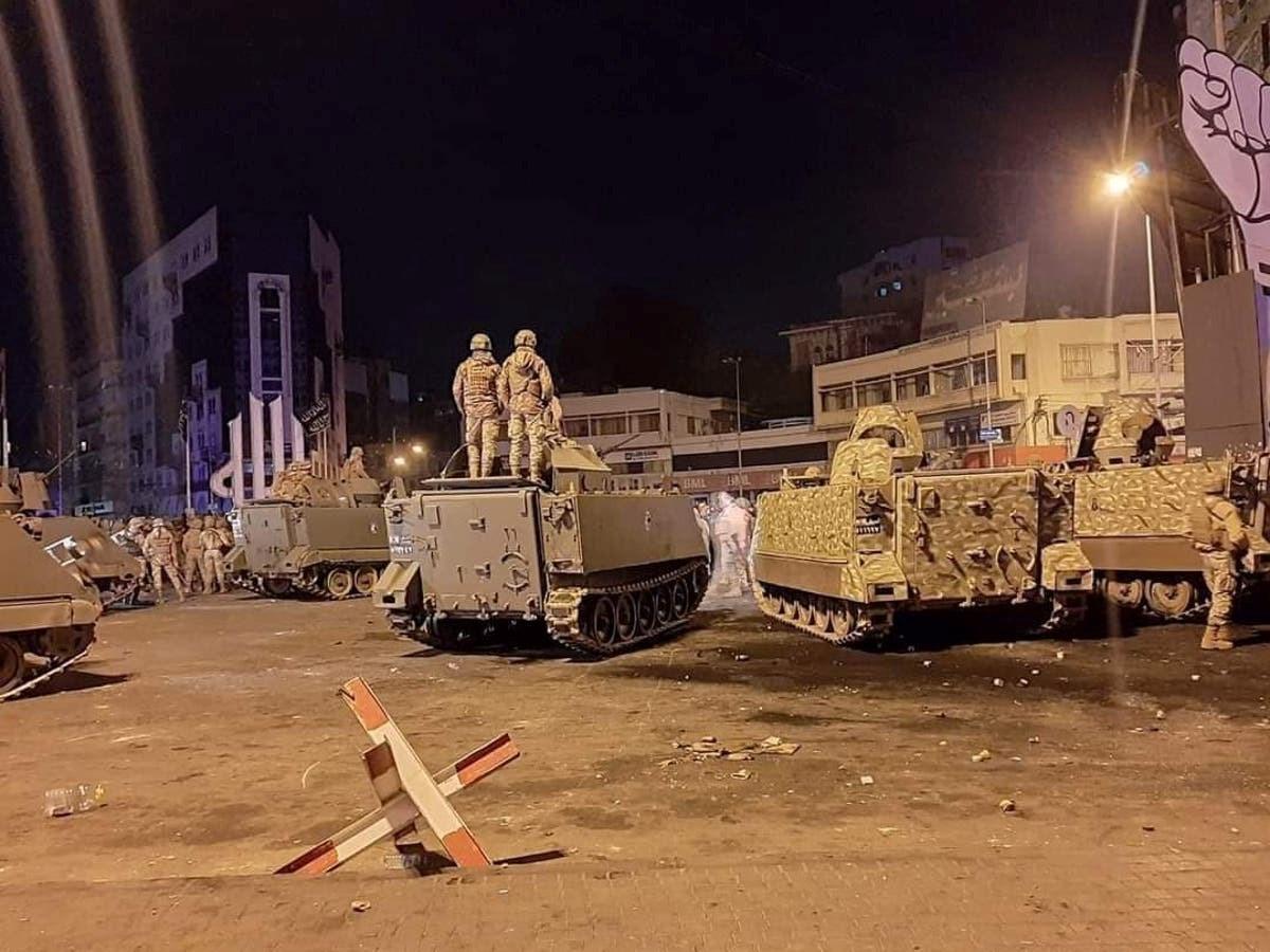 لبنان: 45 جريحاً في احتجاجات طرابلس على الاغلاق العام في البلاد