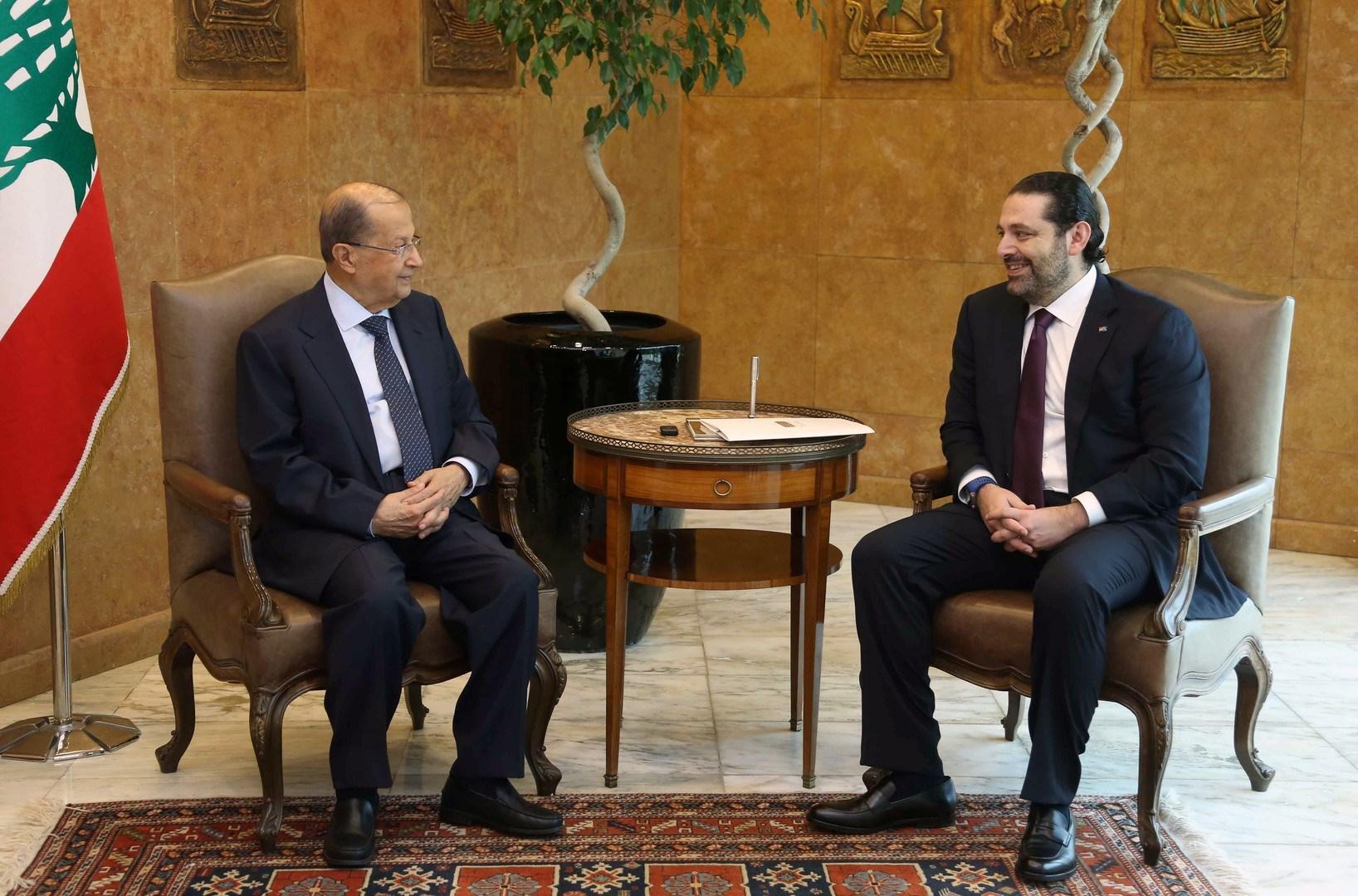 عون: الحريري مصمّم على التفرّد بتشكيل الحكومة