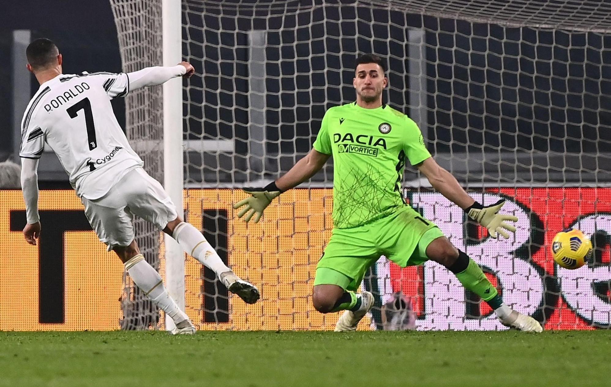 رونالدو مسجّلاً الهدف الأول