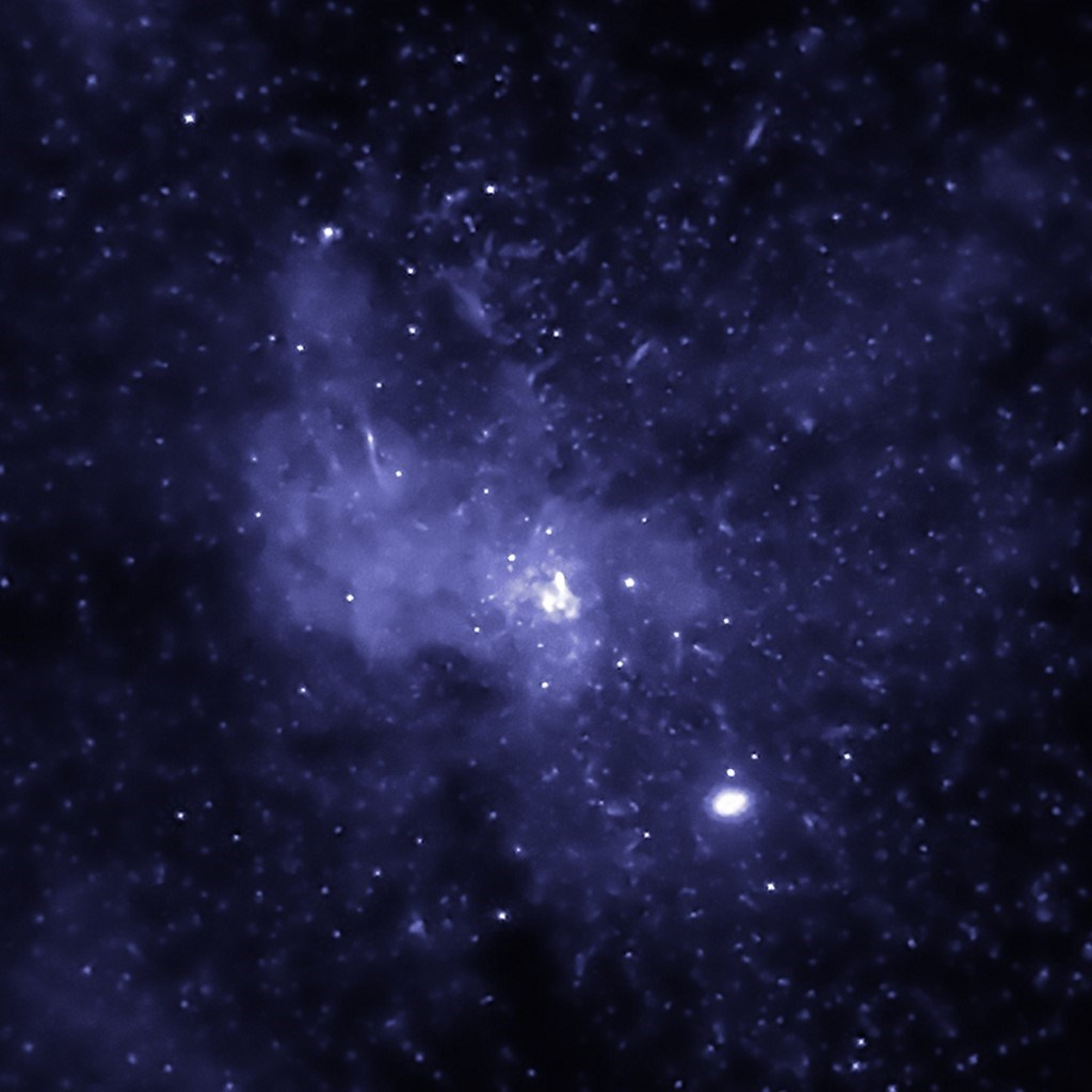 آلاف الثقوب السوداء التي اكتشفها علماء الفلك بالقرب من مركز مجرة درب التبانة - ناسا 2018 (أ.ف.ب)
