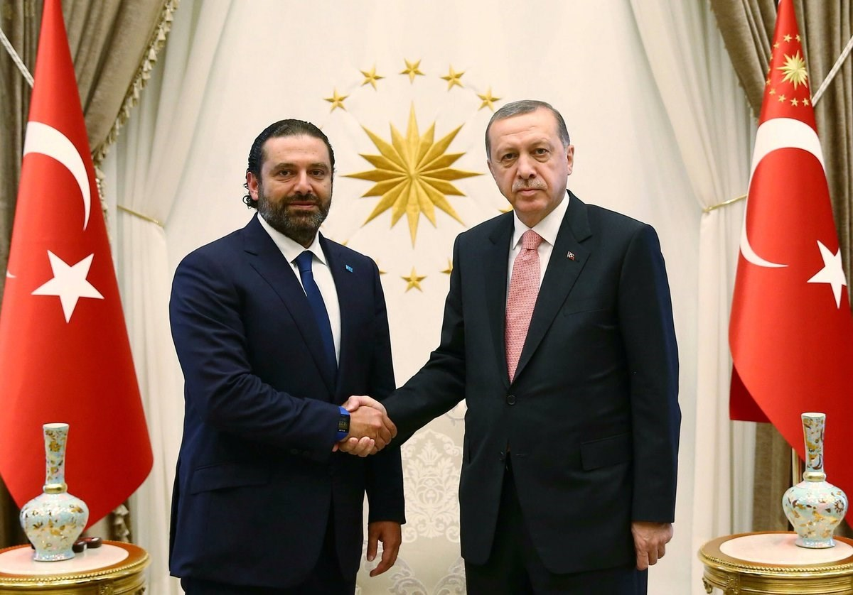 الرئيس التركي يستقبل رئيس الحكومة اللبنانية المكلف سعد الحريري