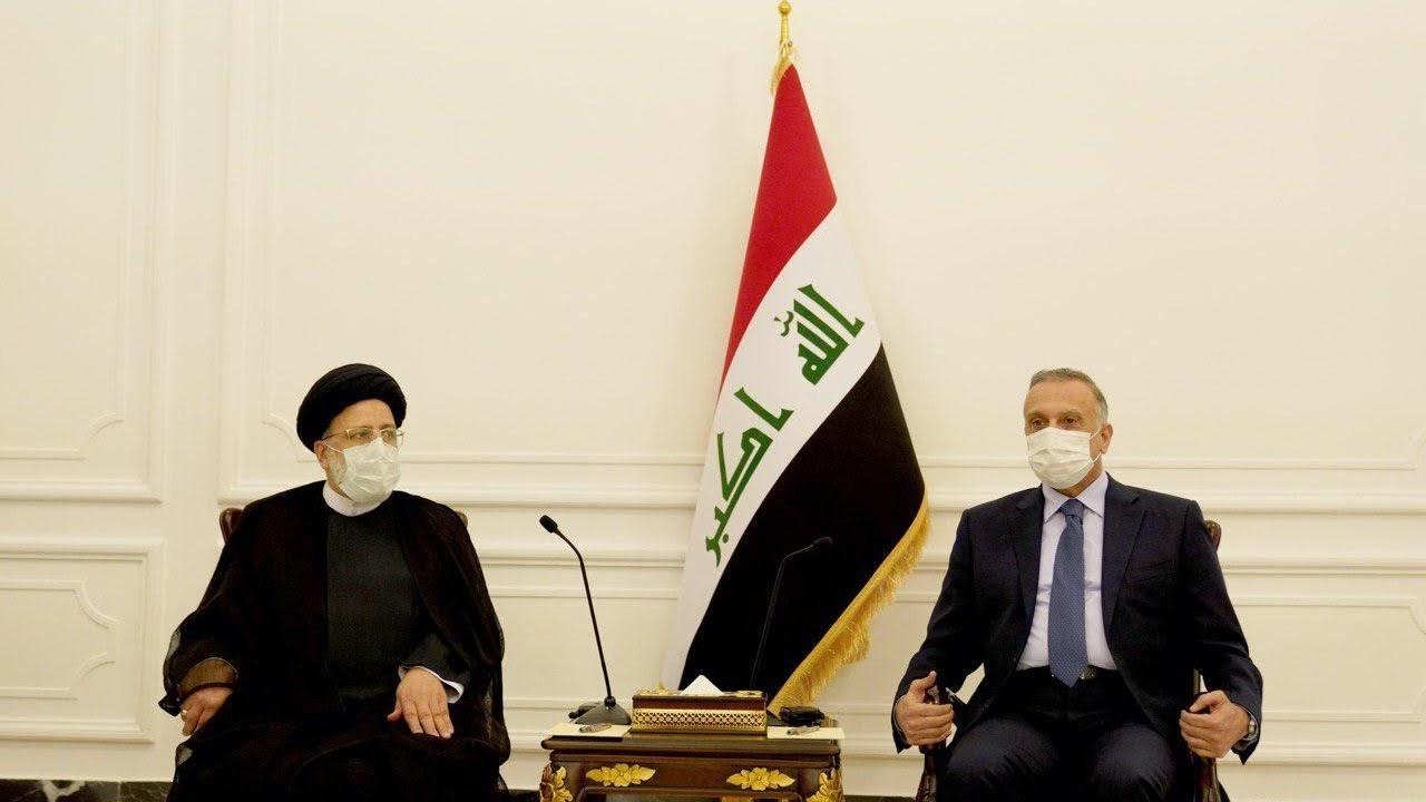 رئيس الحكومة العراقية مستقبلاً رئيس السلطة القضائية الإيراني إبراهيم رئيسي