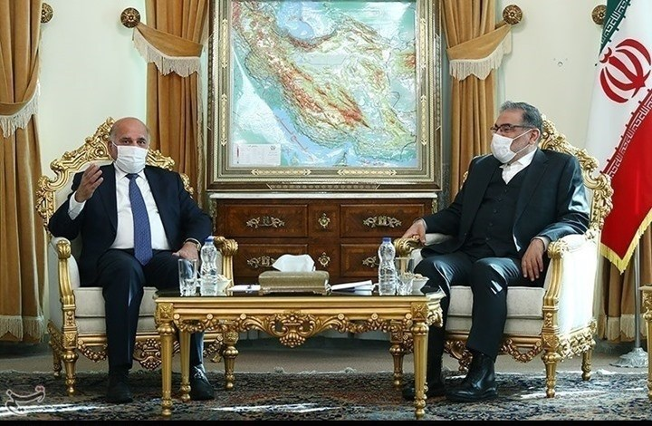 وزير الخارجية العراقي التقى أمين المجلس الأعلى للأمن القومي الإيراني علي شمخاني والمهندس