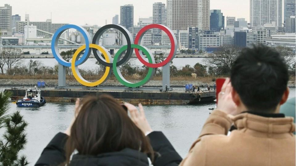 الدوائر الأولمبية في العاصمة اليابانية طوكيو
