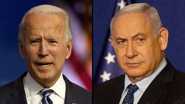صورة مصممة للرئيس الأميركي جو بايدن ورئيس الوزراء الإسرائيلي (وسائل إعلام إسرائيلية).