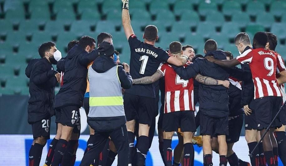 فاز أتلتيك بلباو على ريال بيتيس بركلات الترجيح