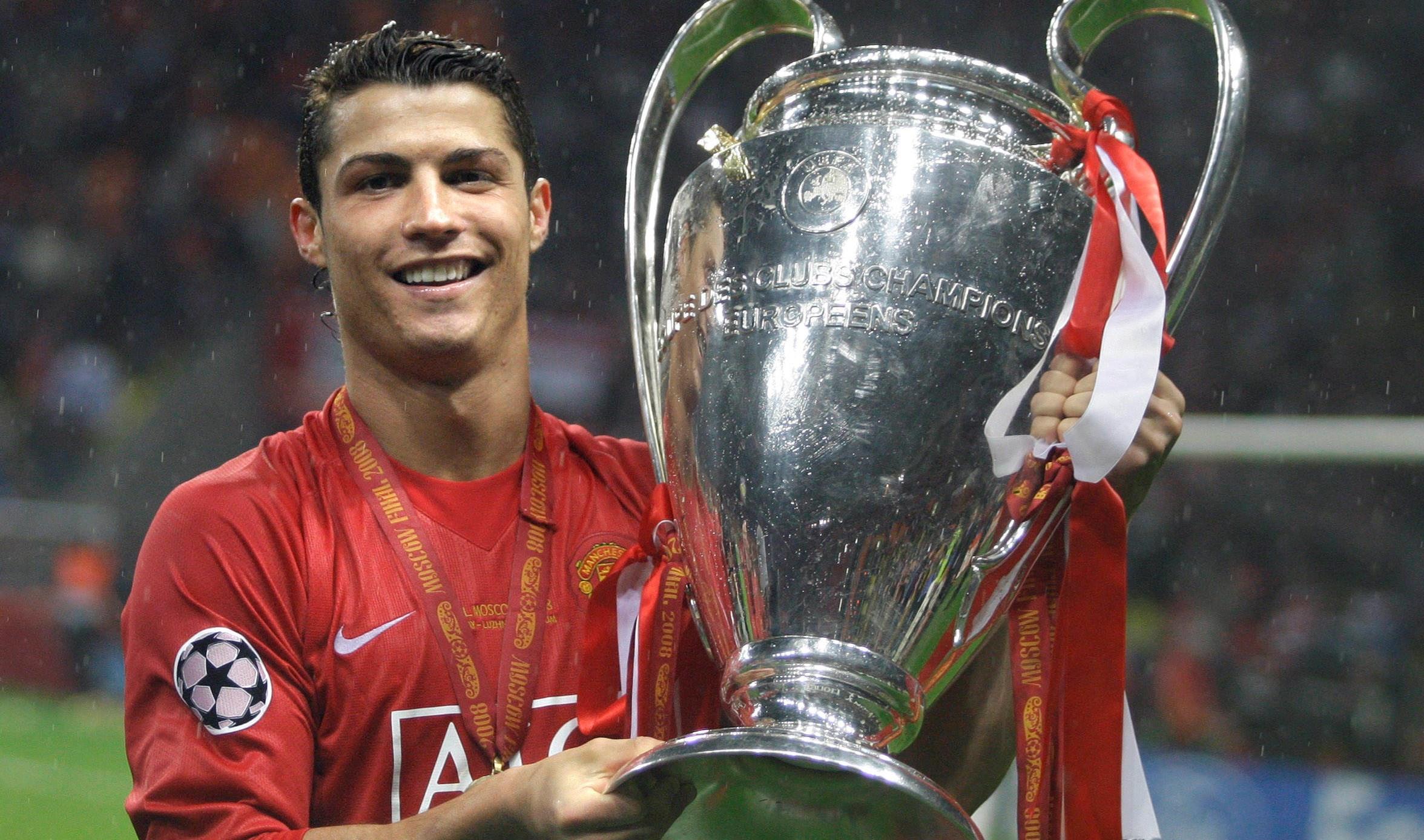 كريستيانو رونالدو بطلاً لدوري أبطال أوروبا مع مانشستر يونايتد