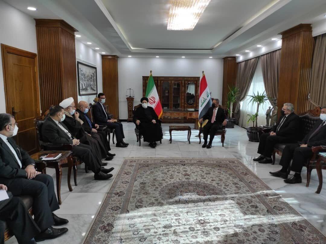 رئيسي بحث مع زيدان تعزيز وتطوير التعاون القضائي والقانوني بين إيران والعراق
