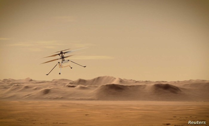 NASA attempts to launch a helicopter on the surface of Mars