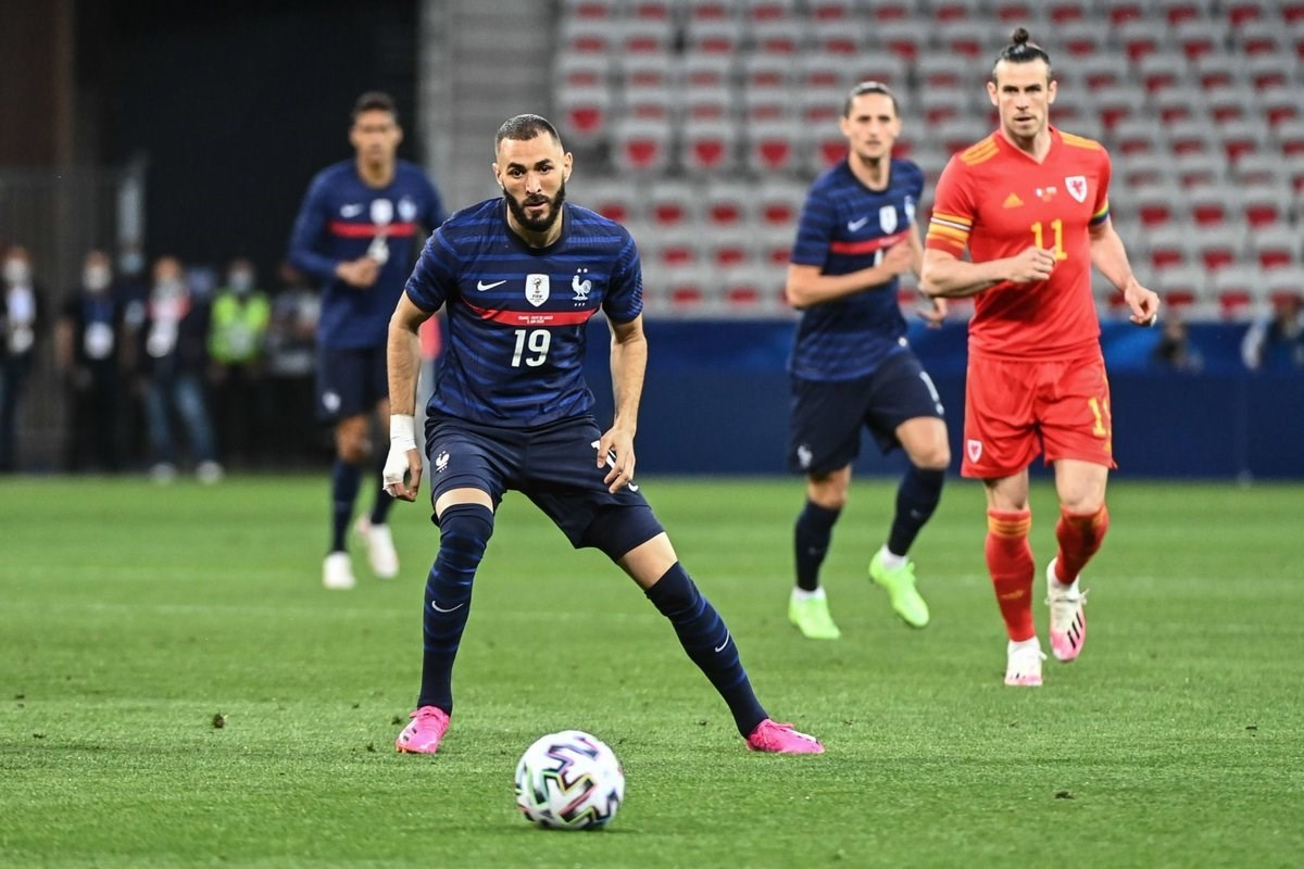 Benzema played in his first intenational match in five and a half years.