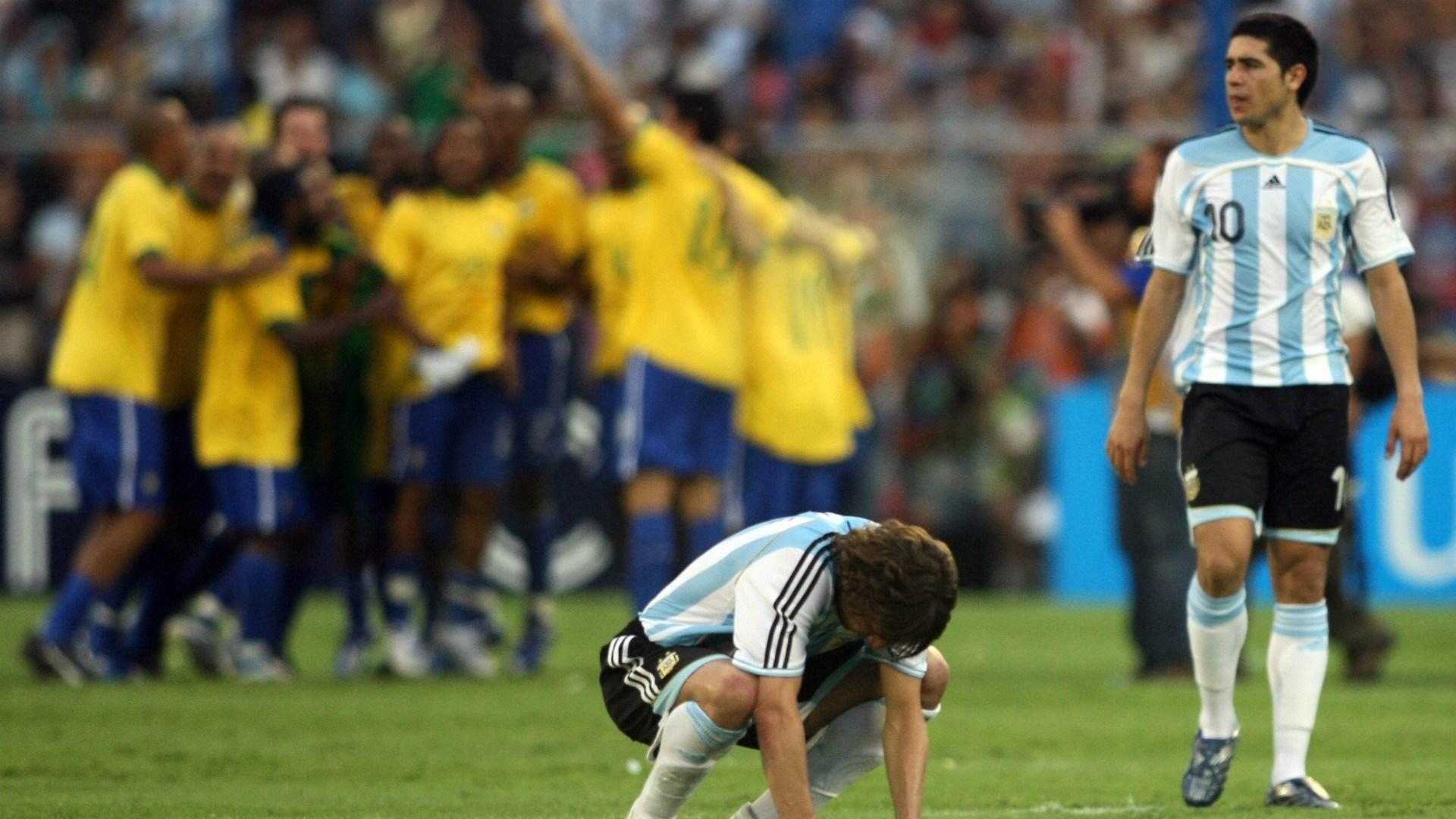 Brazil Vs. Argentina in the Copa America 2007 final (3-0)