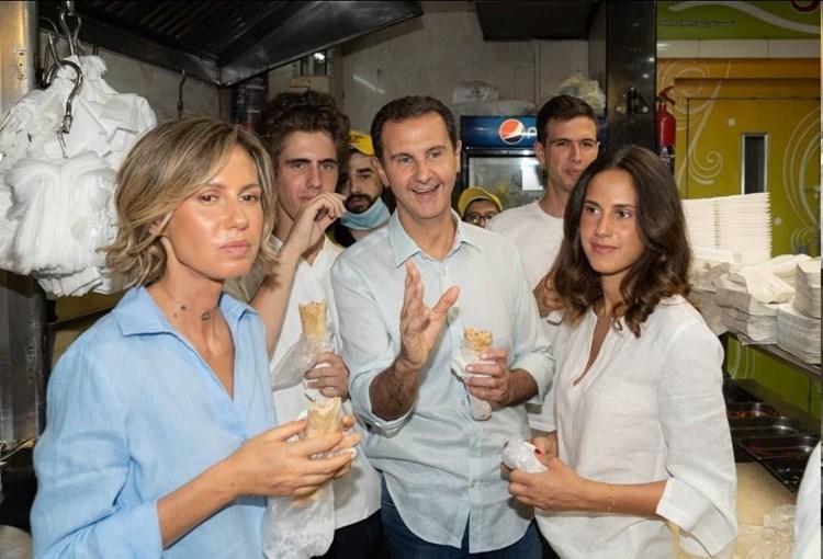 President Assad eats