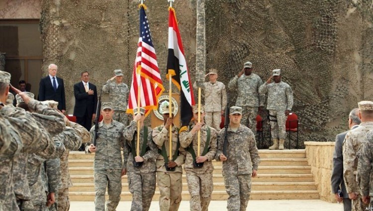 US military parade in Iraq (archive).