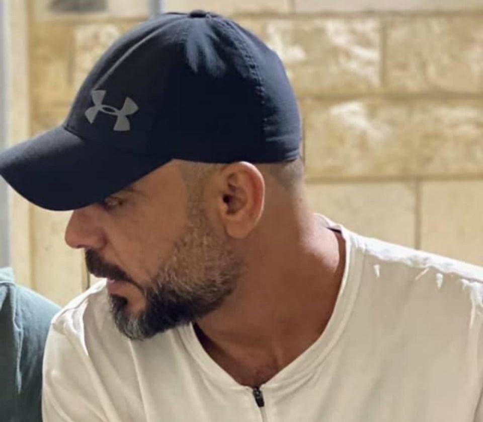 Palestinian martyr Abdo Yousef al-Khatib al-Tamimi inside his prison cell (Social Media Platforms)