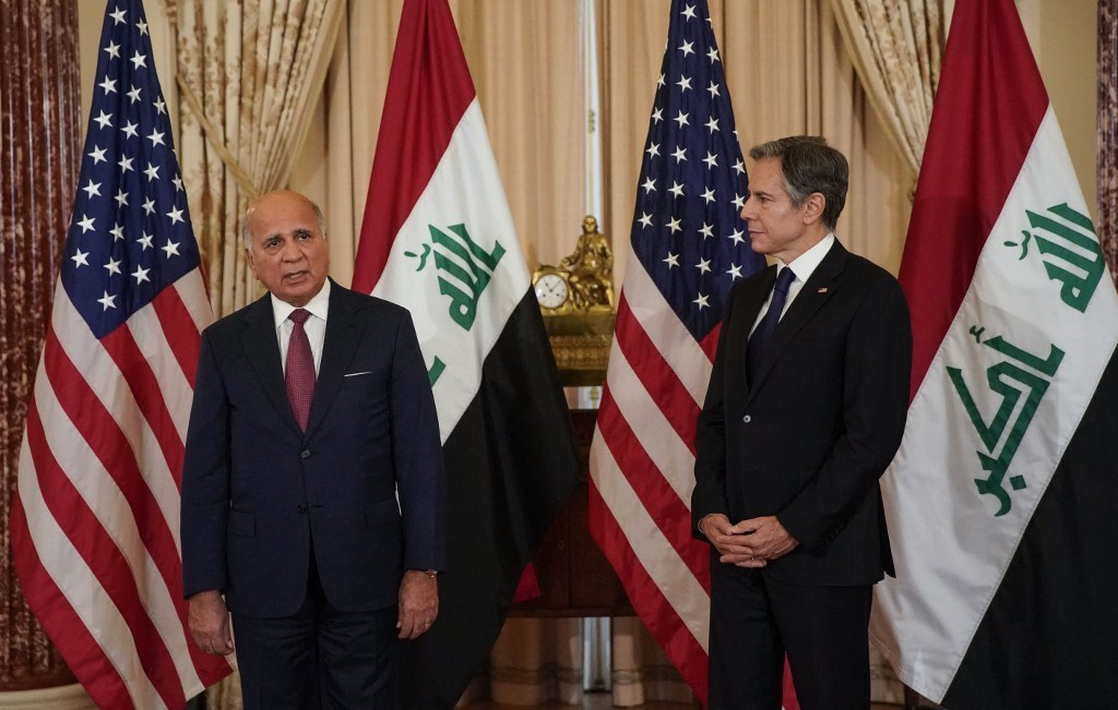 US Secretary of State Antony Blinken and Iraqi Fuad Hussein (Archive - AFP).