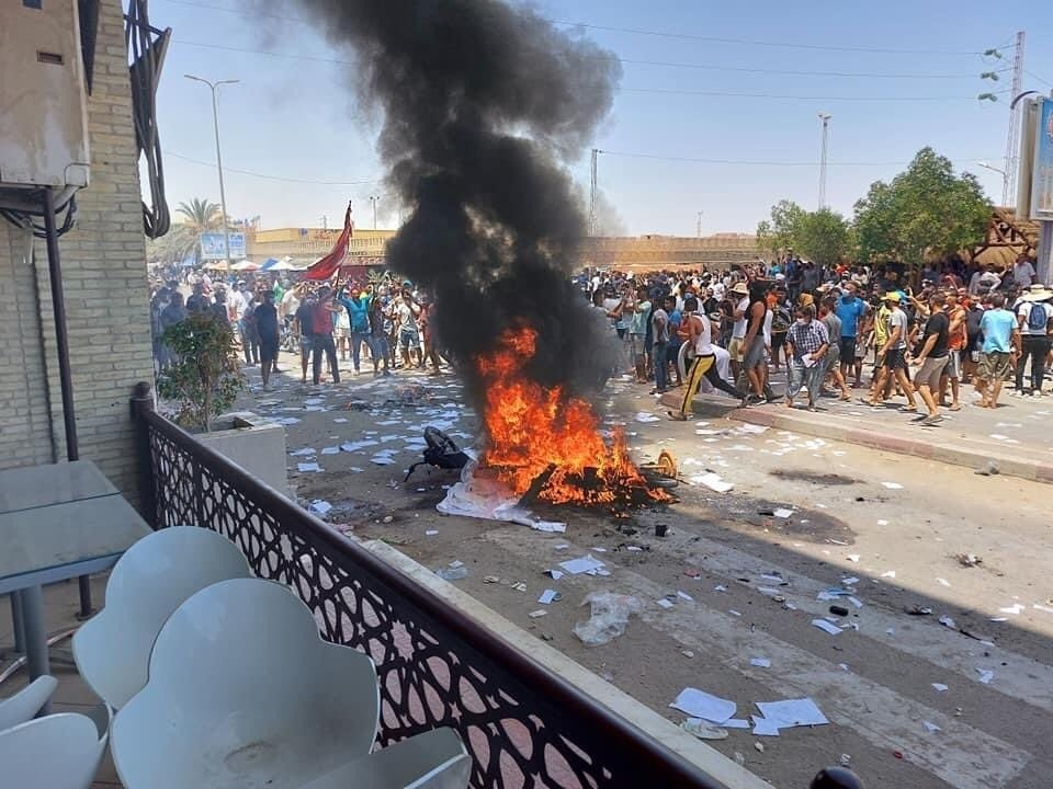 Several Tunisian regions are witnessing protests demanding the dissolution of Parliament and