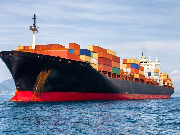 A merchant ship in the Indian Ocean (file photo).