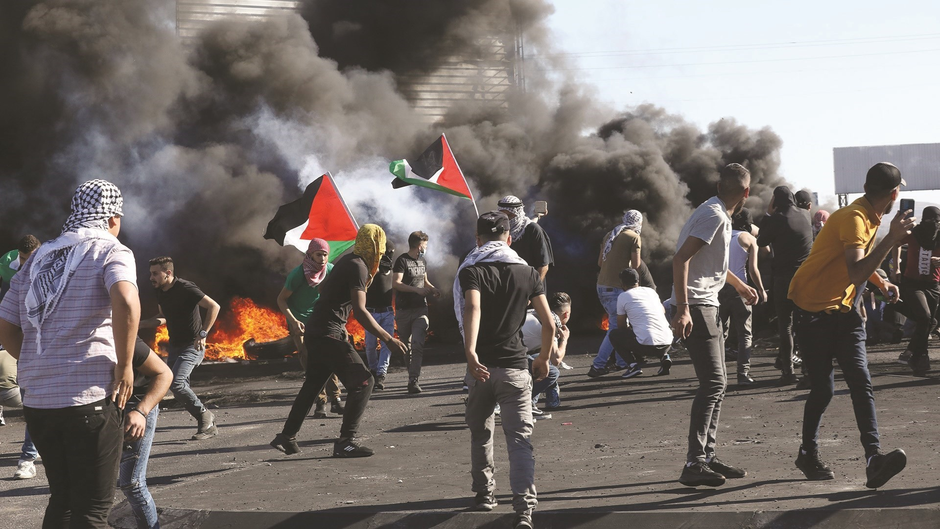 Around 40 Palestinians were wounded as a result of the clashes