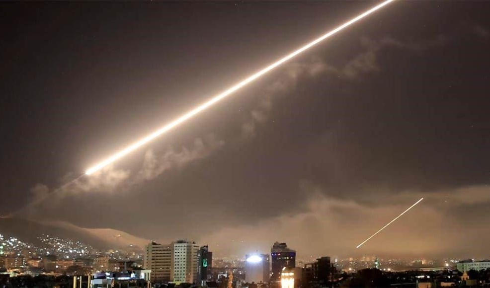 Syrian Air Defenses Confronting Enemy Targets