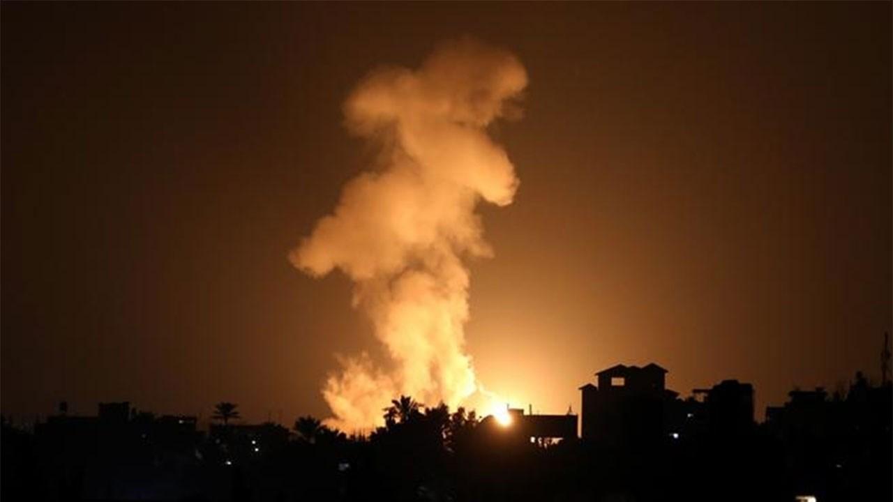 An Israeli airstrike on Gaza Strip